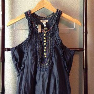 Anthropologie Lulumari Embroidered Racerback Dress